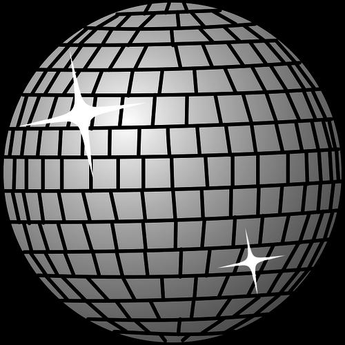 Disco ball vector image.