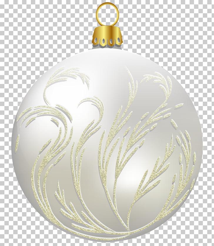 Accesorio blanco y dorado, adorno de navidad santa claus.