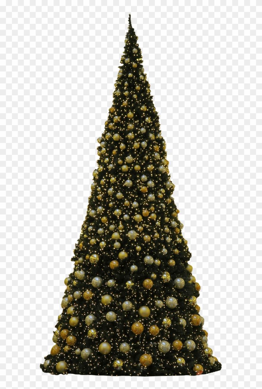 Árbol De Navidad Tres Bolas Doradas.