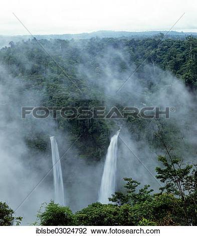"Stock Photo of ""Tad Fane waterfall, Bolaven Plateau, Pakse, Laos."