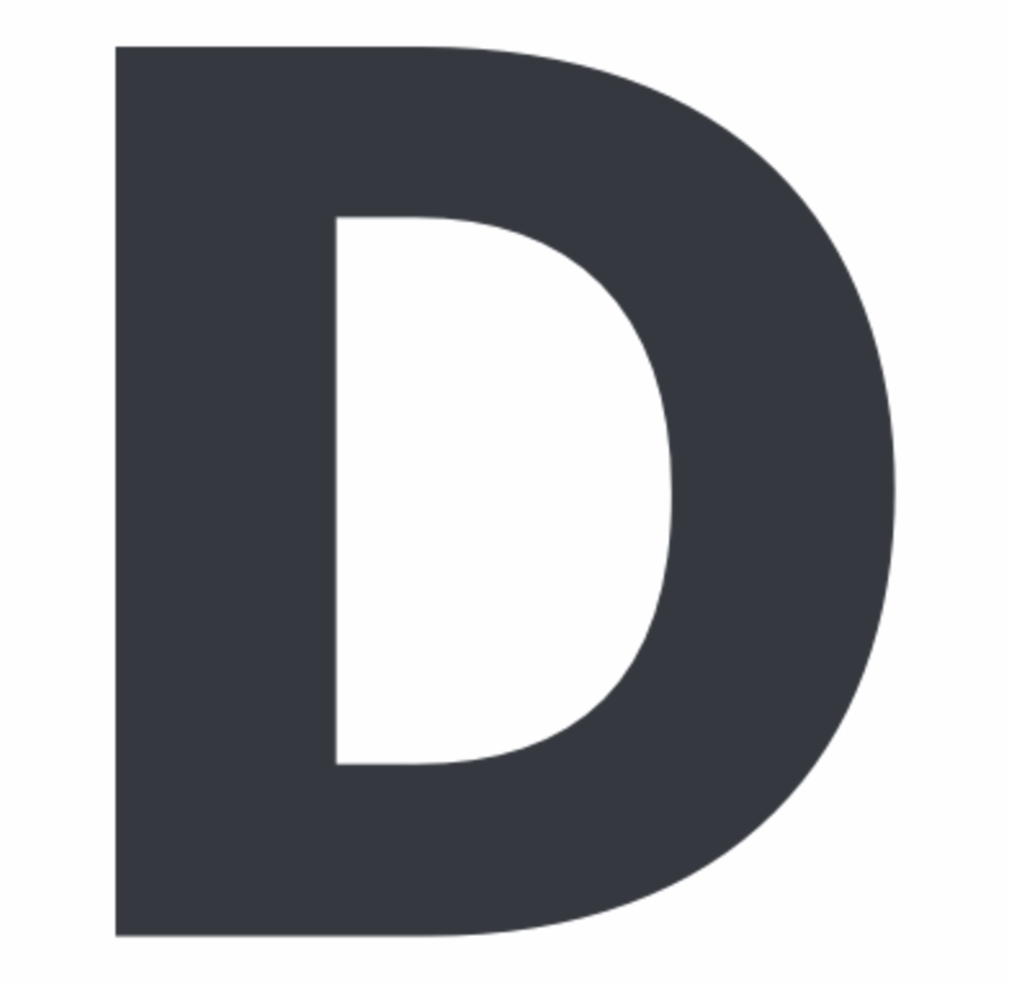D In Bold Letter, HD Png Download (51343 ).
