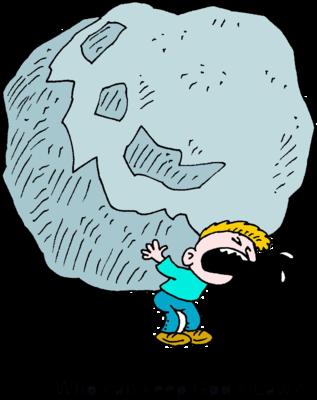 Image: Lifting a boulder.