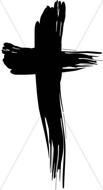 Bold Brushstroke Cross.