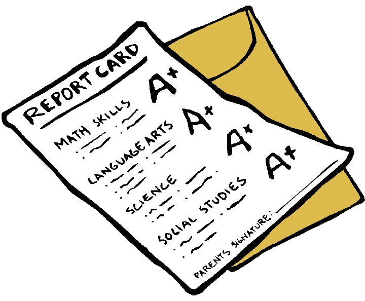 Free PNG Report Card.