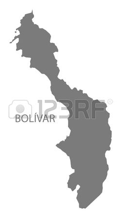 South america map bolivar clipart.