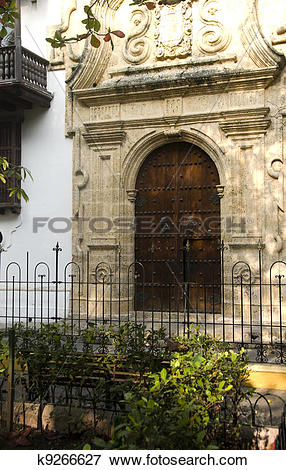 Picture of historical architecture entry Palace of the Inquisition.