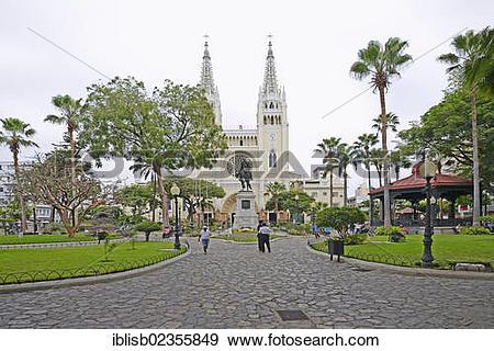 "Stock Photograph of ""Parque Seminario, Parque Bolivar or Parque de."