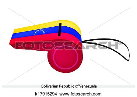 Clipart of A Whistle of Bolivarian Republic of Venezuela k17915294.