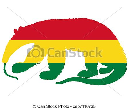 Clipart Vector of Anteater Bolivia csp7116735.
