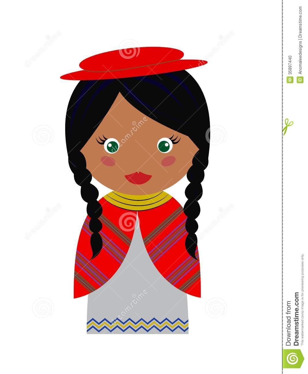 Bolivian Girl Stock Photo.