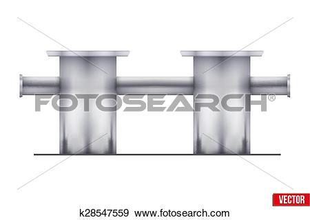 Clip Art of Vector Marina bollard for boats, ships and yachts.