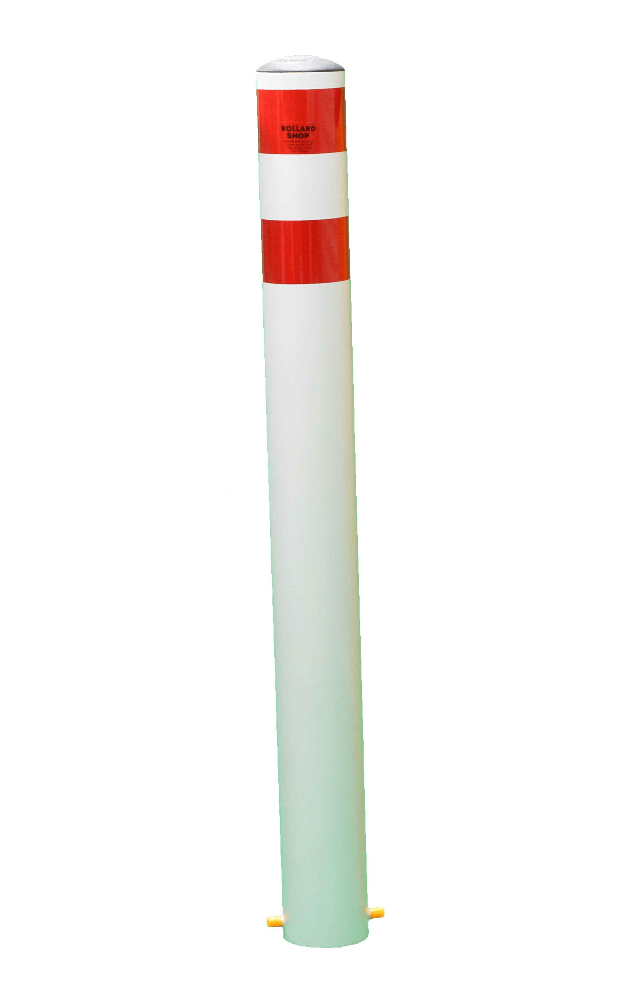 114mm Inground Bollards (White).
