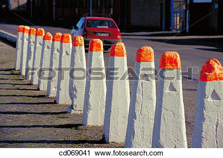 Stock Photography of Bollards cd069041.