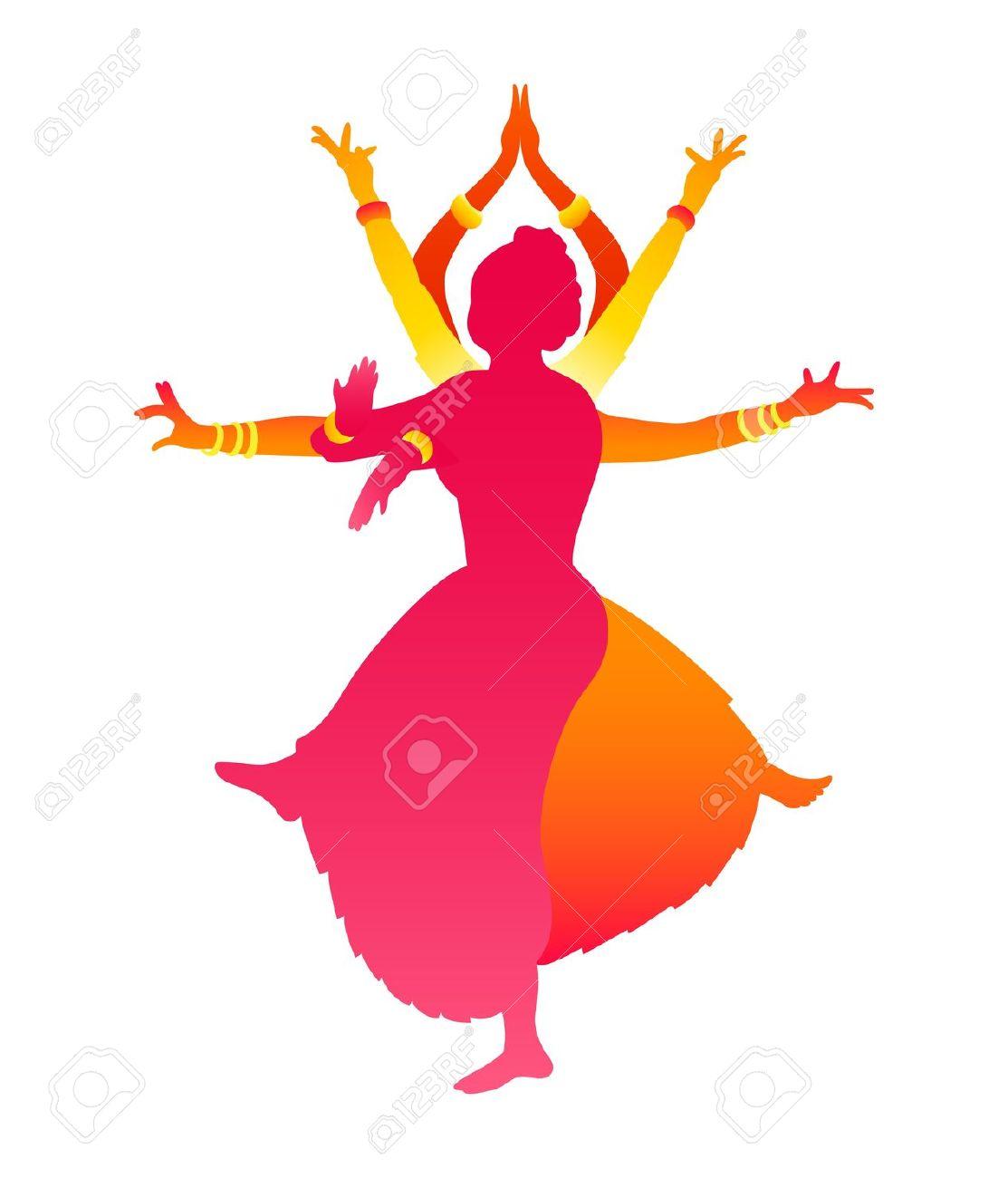 Bollywood dance clipart.