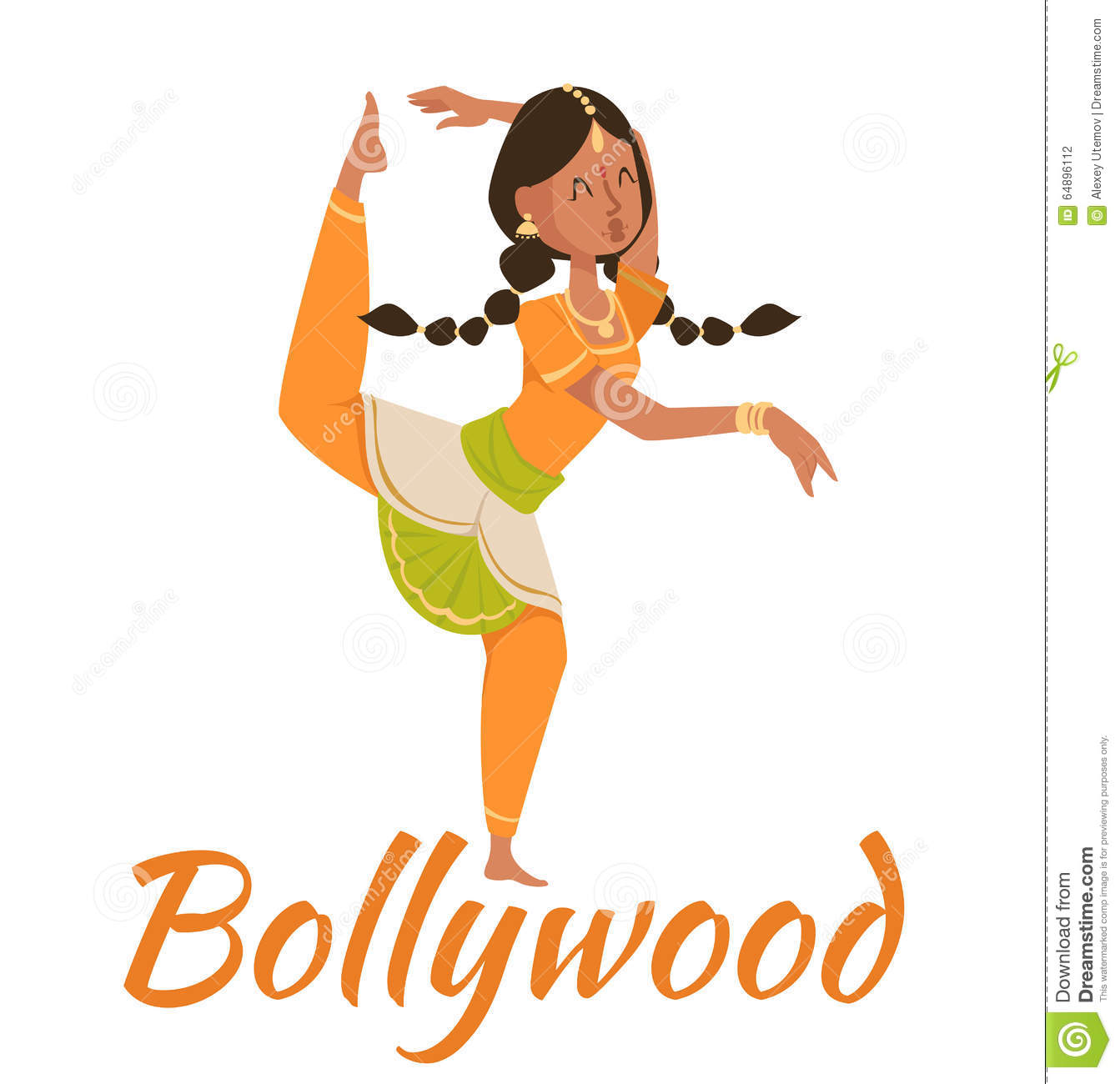 Bollywood couples clipart.