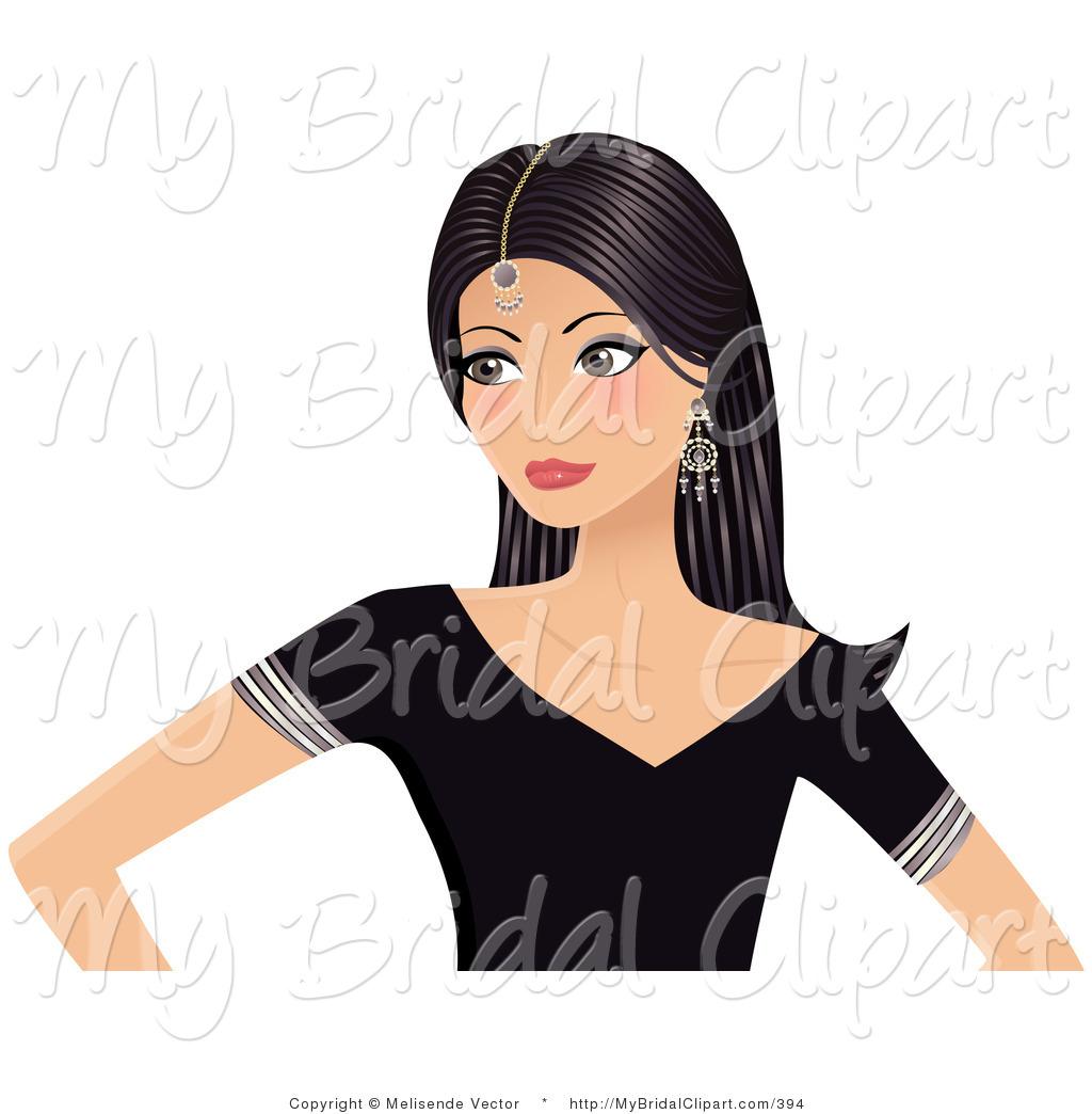 Bollywood female clipart.