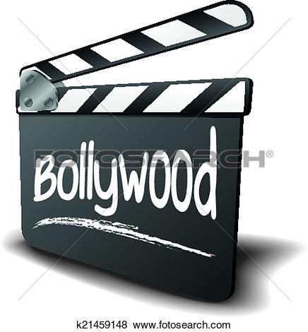 Clip Art of Clapper Board Bollywood k21459148.