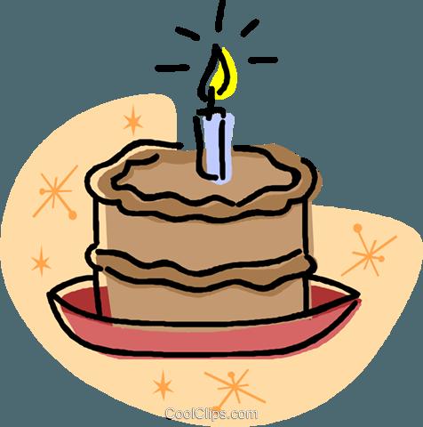Bolo de aniversário livre de direitos Vetores Clip Art.