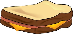 Turkey And Cheese Sandwich Clipart.