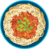 Spaghetti Bolognese Clip Art.