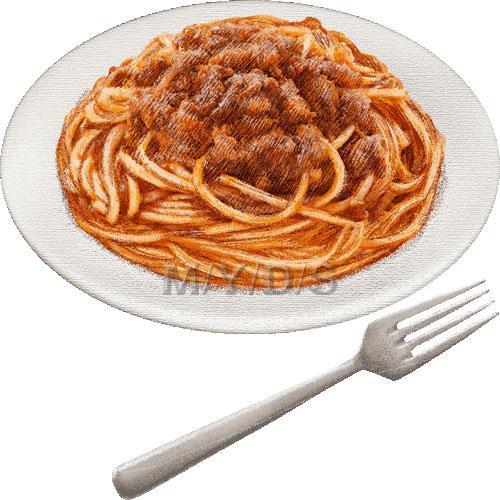Spaghetti alla Bolognese clipart / Free clip art.