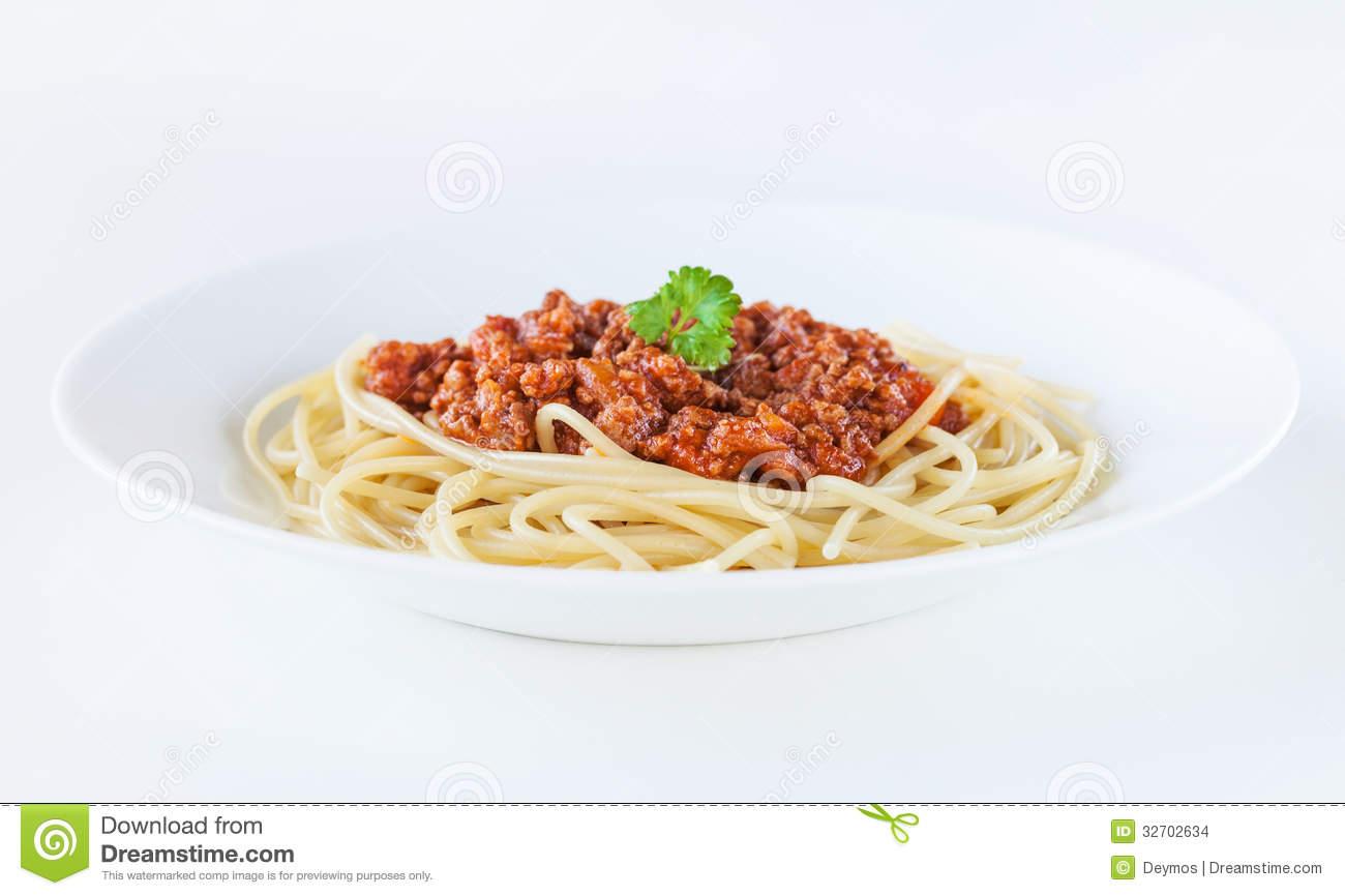Spaghetti Bolognese Stock Images.