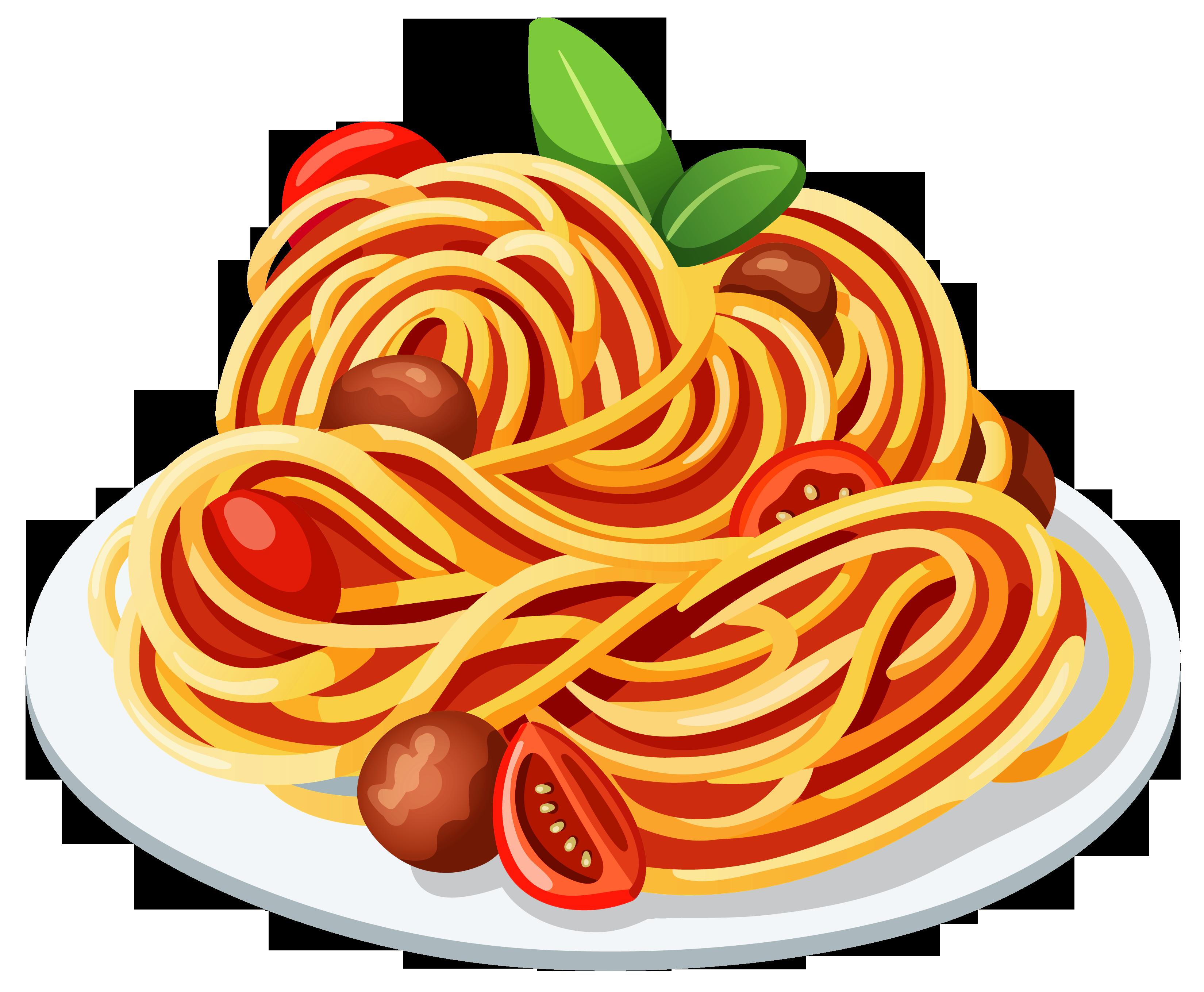 Spaghetti clipart no background.