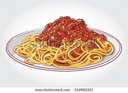 Clipart spaghetti bolognese.