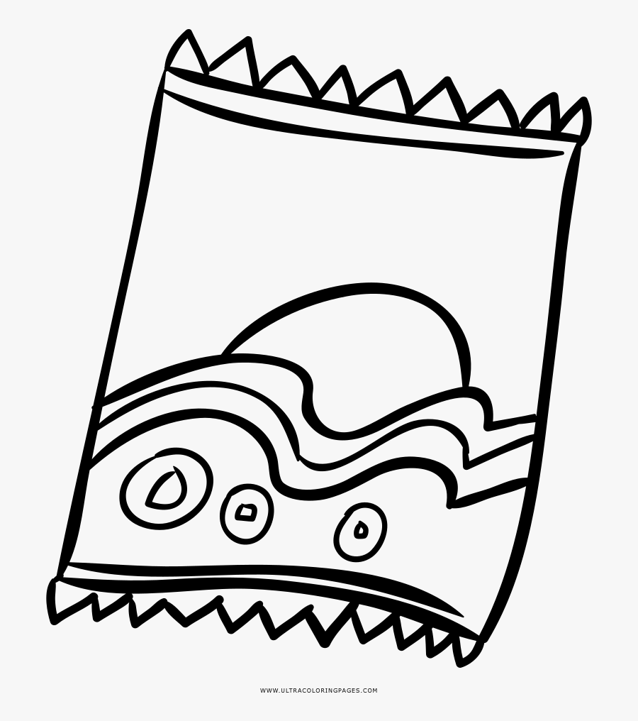 Chips Coloring Page.