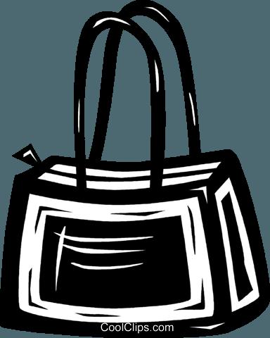purse Royalty Free Vector Clip Art illustration.