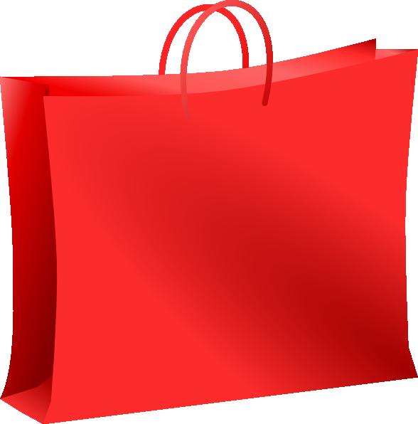 Red Bag For Shopping. Bolsa Roja De Compras. Clip Art at.