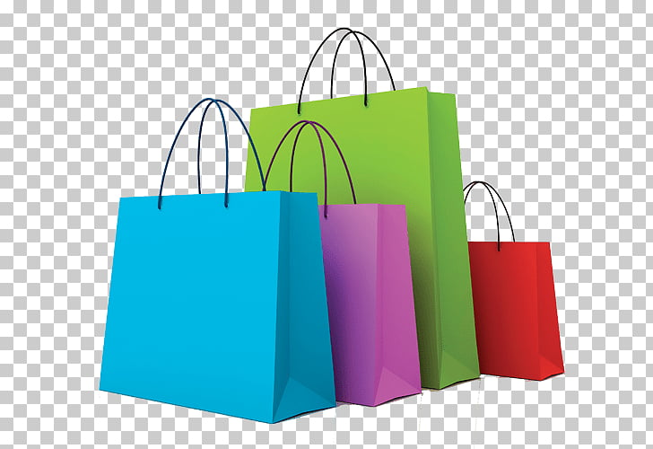 Gráficos de red portátiles, bolsas de compras y carros.