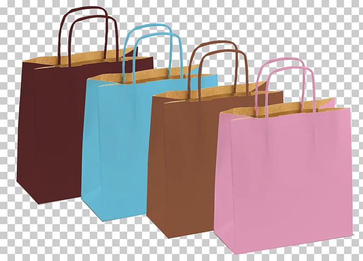 Bolsa de asas de papel, bolsas de compras y carros.