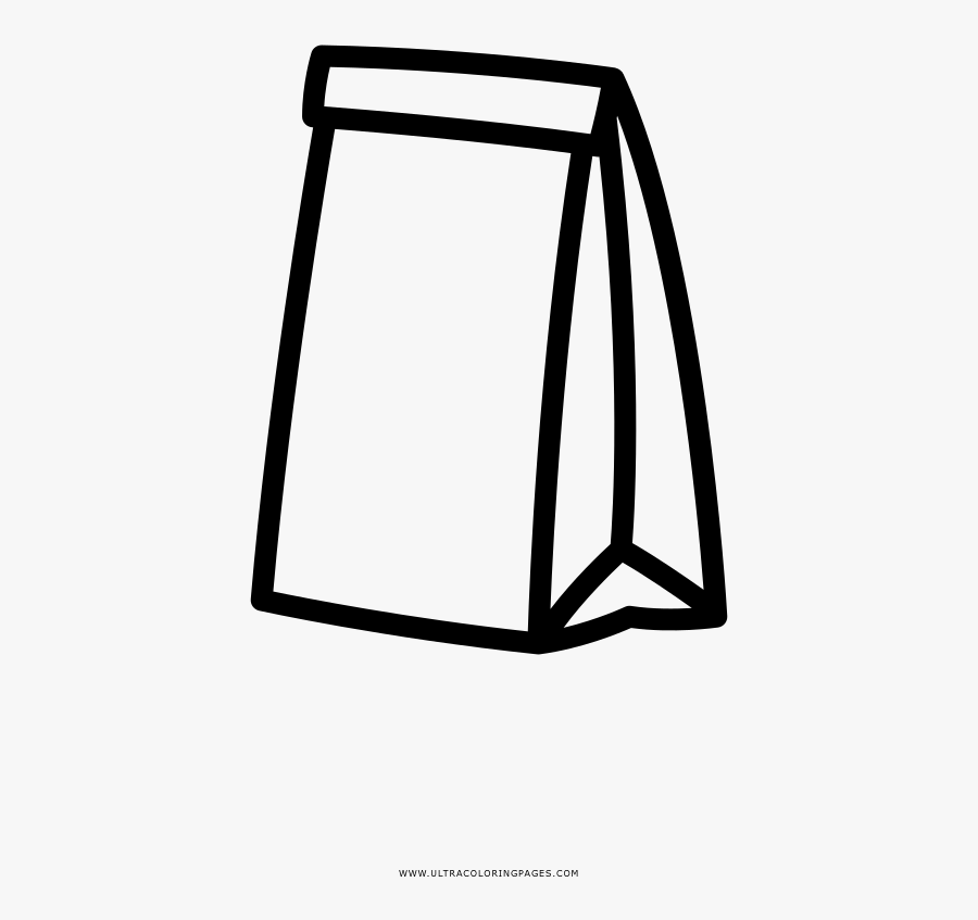 Paper Bag Coloring Page.