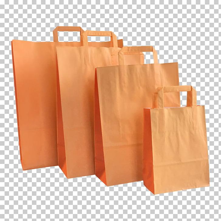 Bolsas de compra y carros de papel color naranja, naranja.
