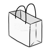 Dibujos Animados DE Bolsa DE Papel Blanco Stock Vector.