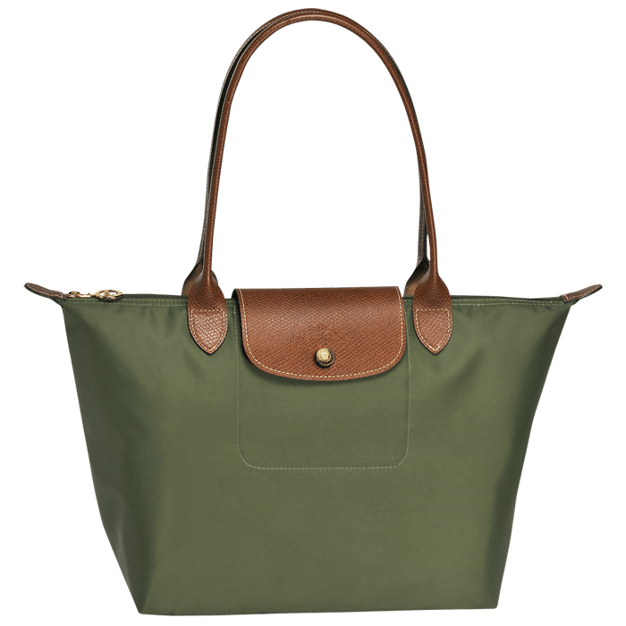 Bolsa de Mano Verde Longchamp PNG transparente.