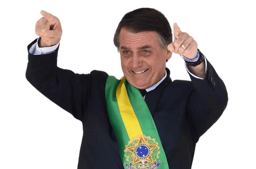 Jair Bolsonaro Pointing To the Public transparent PNG.
