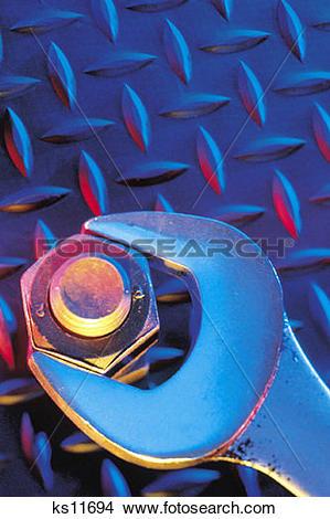 Stock Photo of Industrial Strength, Bolt, Construction, Diamond.