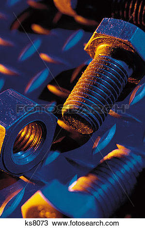 Stock Photo of Metallic Mysteries, Backgrounds, Bolt, Construction.