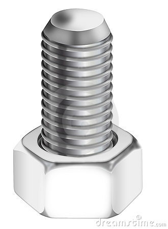 Bolt Nut Construction Parts Isolated Stock Photos, Images.