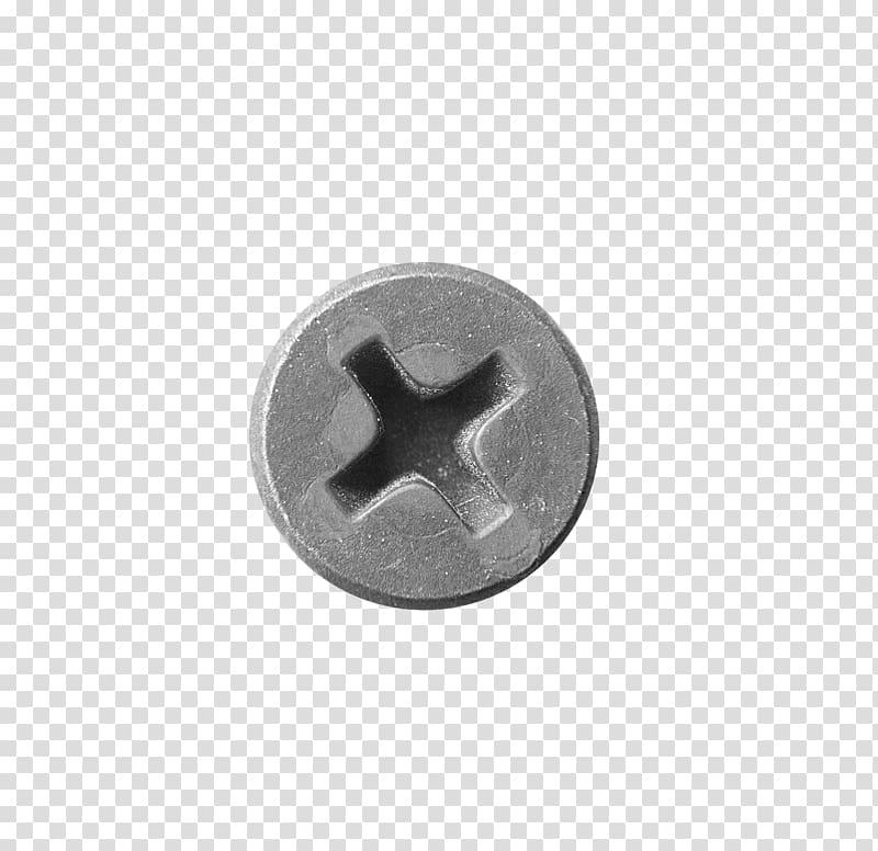 Round gray bolt close.