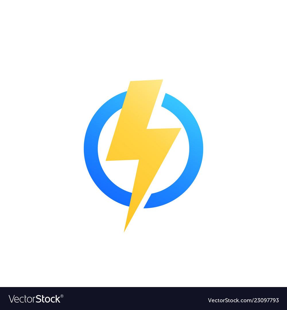 Lightning bolt icon logo.