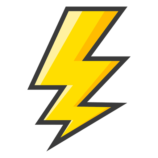 Lightning bolt yellow symbol.