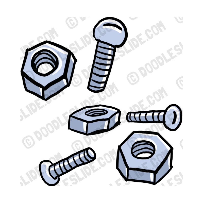 Screws and bolts clipart.