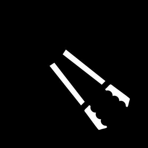 Bolt cutter tool vector clip art.