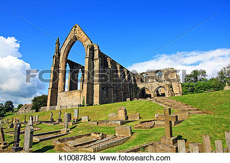 Stock Photo of Bolton Abbey in North Yorkshire, England k10087834.