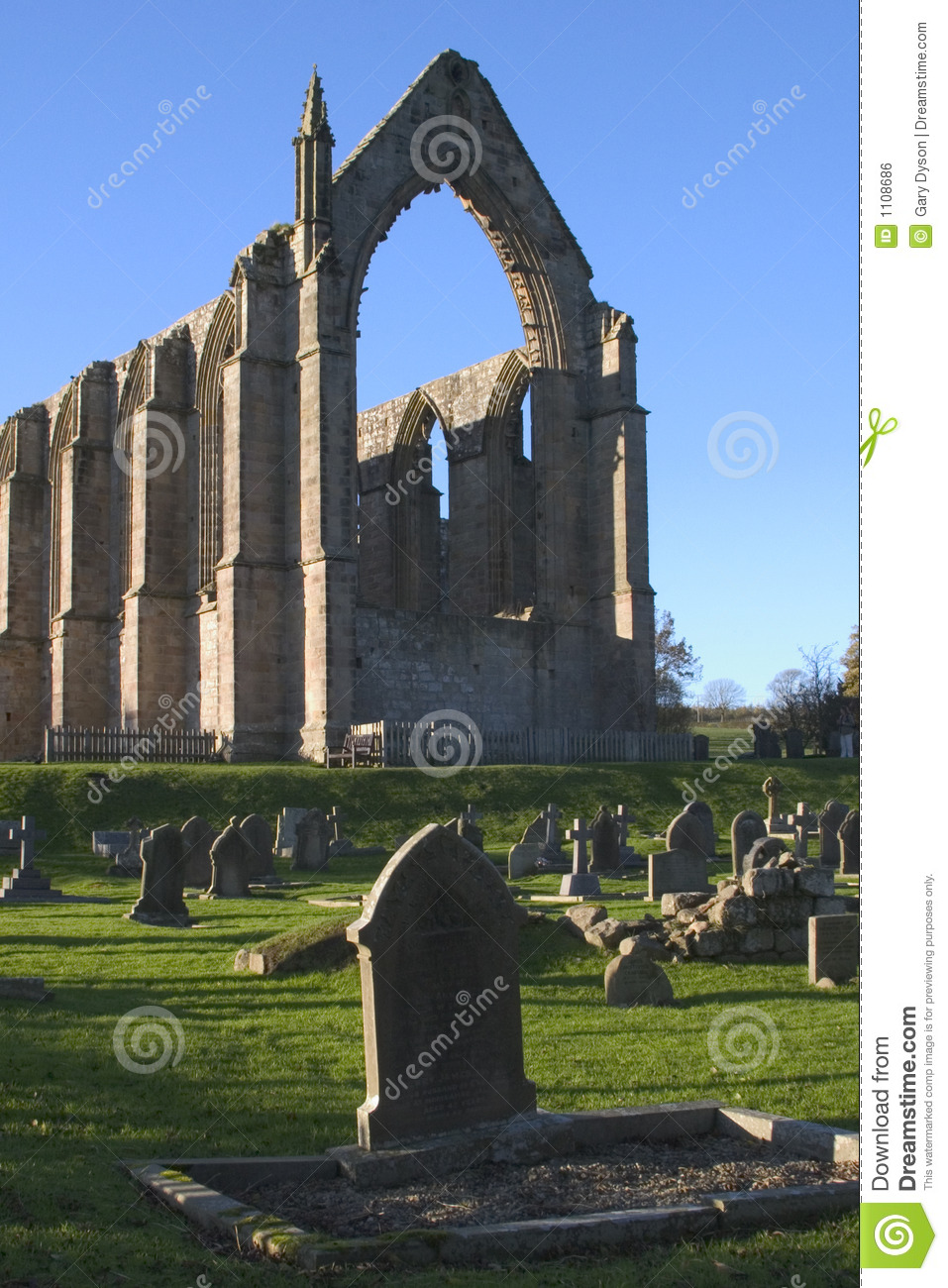 Bolton Abbey, Yorkshire Dales, England Royalty Free Stock Image.