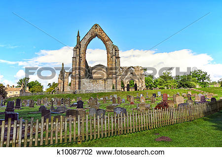 Stock Photo of Bolton Abbey in North Yorkshire, England k10087702.