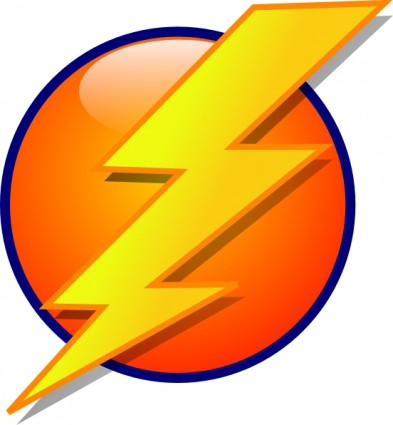 Blue Lightning Bolt Clipart.
